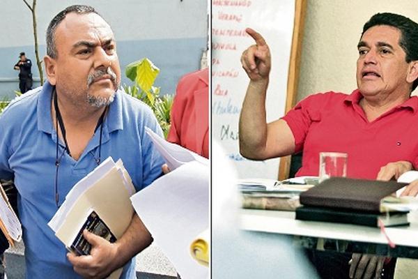 Oswaldo Orozco, secretario del Fnteg, -izquierda- y Joviel Acevedo, secretario del Steg.