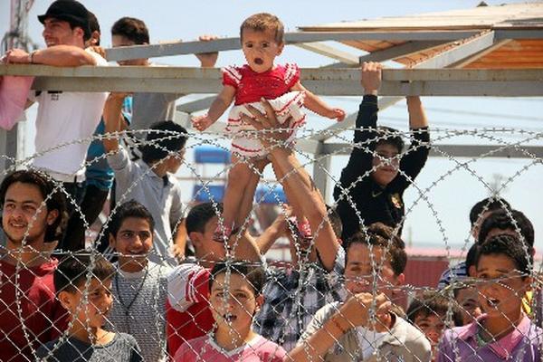 Campo de refugiados siros en Kahramanmaras, Turquía. (Foto Prensa Libre:AFP)