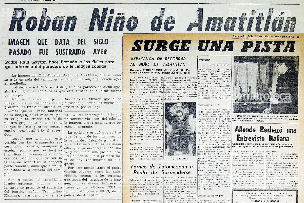 El robo del Niño de Amatitlán – Prensa Libre