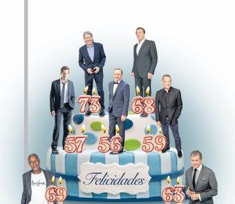 Los veteranos más cotizados de Hollywood están este mes de manteles largos (Foto Prensa Libre).