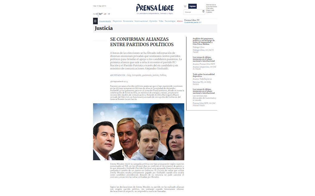 Usurpan diseño web de Prensa Libre