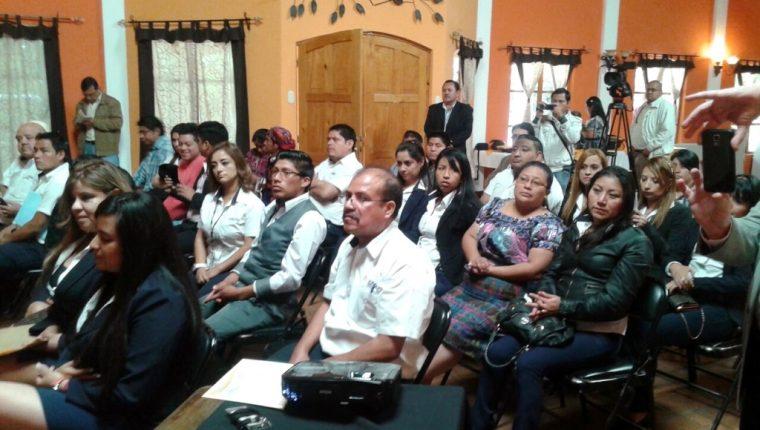 Asistentes a la actividad del Renap en Santa Cruz del Quiché, Quiché. (Foto Prensa Libre: Óscar Figueroa)