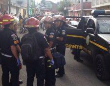 Un socorrista de los Bomberos Municipales de Mixco resultó herido de bala en El Milagro. (Foto Prensa Libre)
