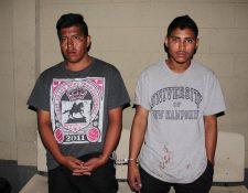 """<span style=""""font-size: 12px;"""">Los detenidos señalados de secuestrar a un taxista y a dos mujeres.( Foto Prensa Libre: PNC)</span>"""