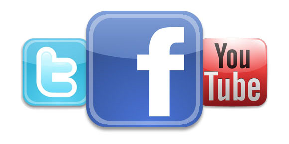 Twitter, Facebook, Youtube