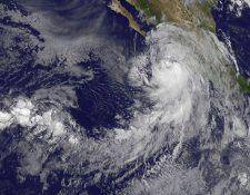 """El huracán """"Newton"""" va rumbo las costas mexicanas de Baja California. (Foto Prensa Libre: AFP)"""