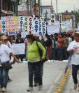 Las marchas por la Revolución salieron de varios puntos de la ciudad capital. (Foto Prensa Libre: Álvaro Interiano)