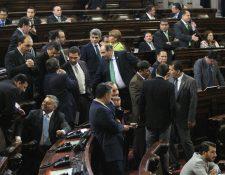 Diputados no llegaron a consensos ayer en el Congreso.(Foto Prensa Libre: Esbin García)