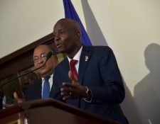 Jovenel Moise, presidente de Haití en su participación de la cumbre Caricom (Foto Prensa Libre: AFP)