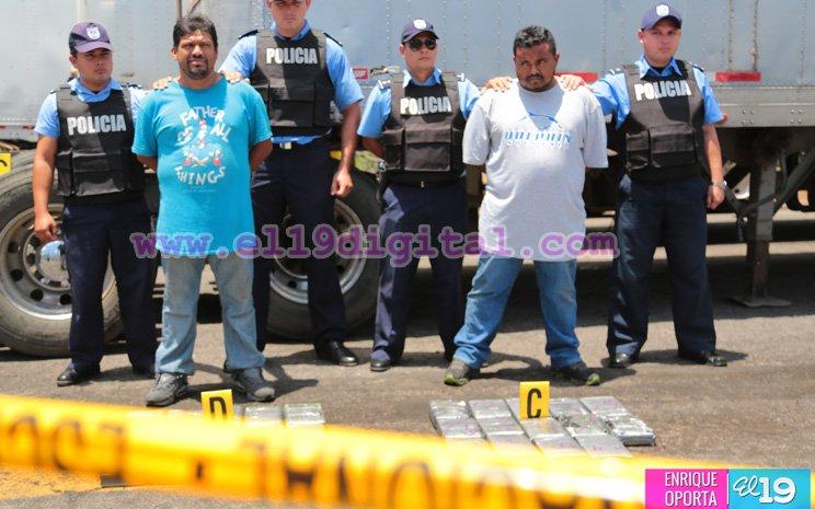 Los dos guatemaltecos detenidos con cocaína en Nicaragua. Foto Prensa Libre: @el19digital