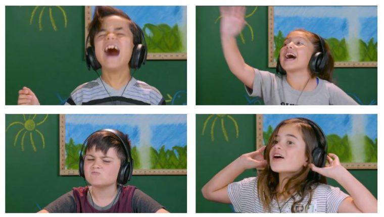 Niños reaccionan al escuchar la música de de Guns N' Roses. (Foto Prensa Libre: YouTube/FBE)