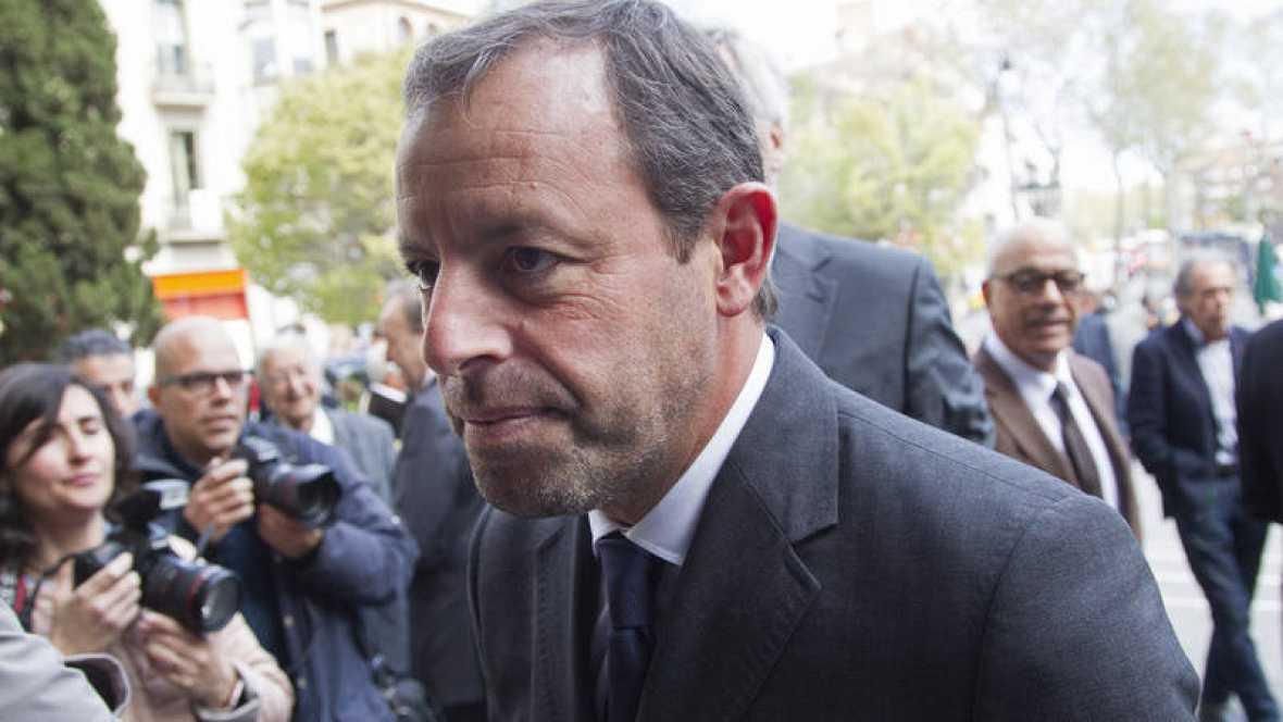 El expresidente del Barcelona, Sandro Rosell, continuará en prisión provisional por pedido del fiscal. (Foto Prensa Libre: Internet).