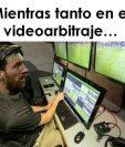 Messi, aunque no juega la Confederaciones, aparece en los memes. (Foto Prensa Libre: Twitter)