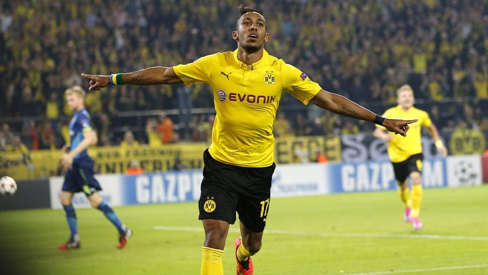 El Borussia Dortmund ha puesto en venta el gabonés Pierre Emerick Aubameyang por €70 millones. (Foto Prensa Libre: Hemeroteca)