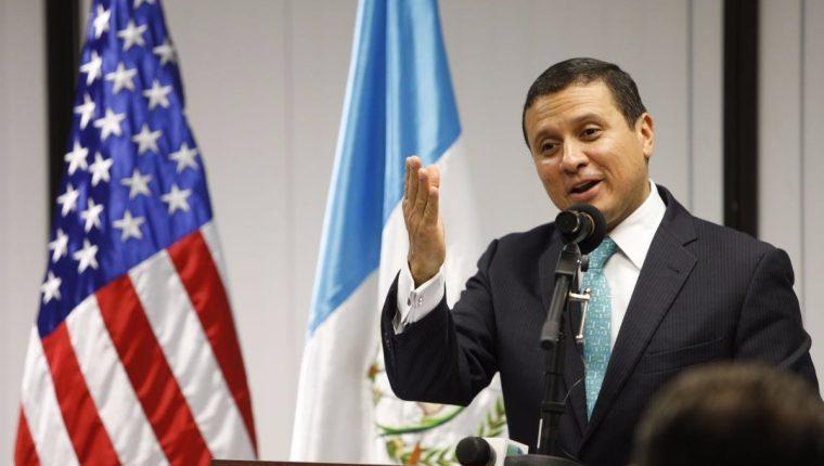Ministro de Relaciones Exteriores, Carlos Raúl Morales. (Foto Prensa Libre: Hemeroteca PL).