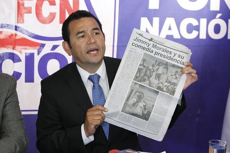 Jimmy Morales creía en 2015 que Otto Pérez debía renunciar a la inmunidad por honor