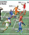 Grandes figuras se perderán el Mundial de Rusia 2018. (Foto Prensa Libre: AFP)