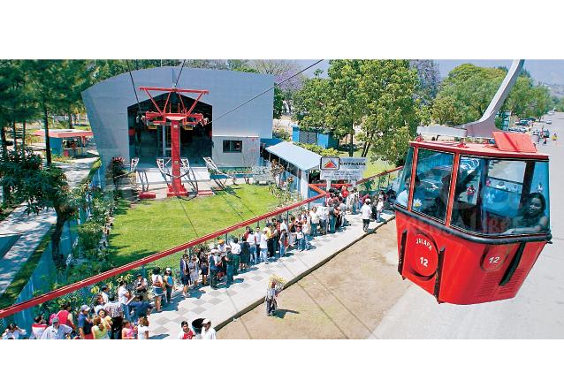 La ilusión de los turistas que visitan Amatitlán resurgió en 2006 cuando fue reinaugurado el Teleférico el cual funcionó únicamente seis años. (Foto: Hemeroteca PL)