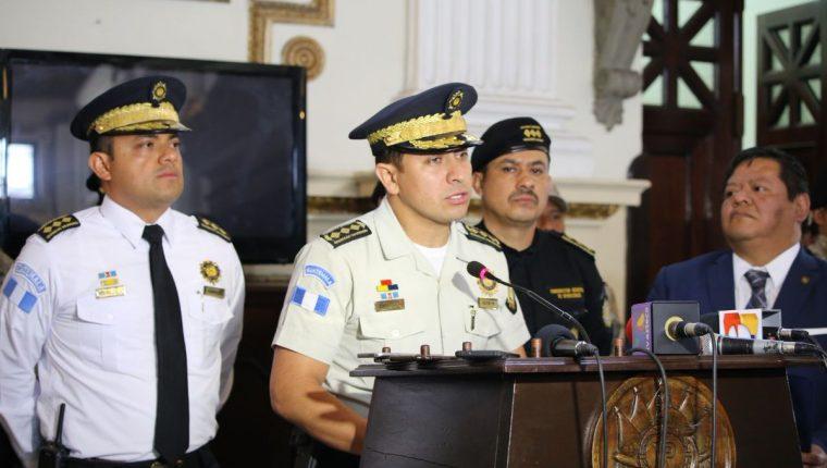 Nery Ramos y Ramos dirigió la Policía Nacional Civil desde septiembre del 2015. Sustituyó a Walter Velásquez. (Foto Prensa Libre: Hemeroteca PL)