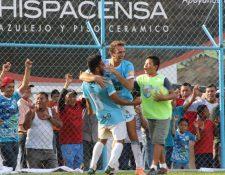 Sanarate y su afición tienen la ilusión de conseguir cosas grandes en el Clausura 2018. (Foto Prensa Libre: Hugo Oliva)