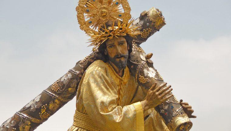 Jesús Nazareno de la Merced en su procesión de Viernes Santo 2019. (Foto Prensa Libre: Néstor Galicia)