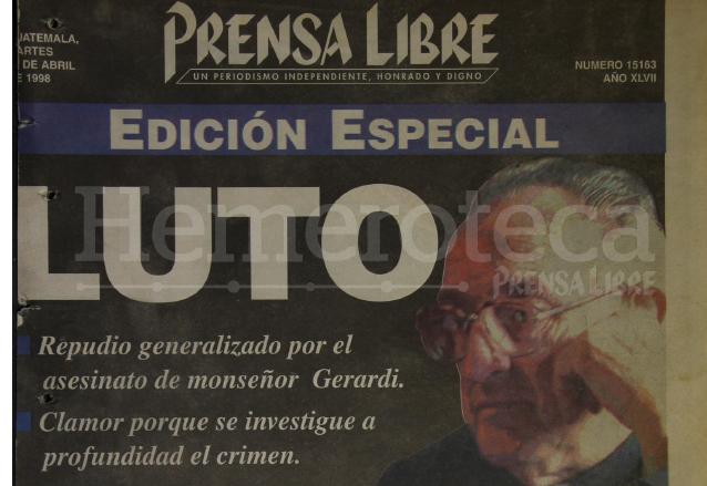 1998: repudio generalizado por el asesinato de monseñor Gerardi