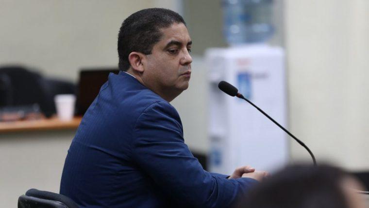 Juan Carlos Monzón aseguró durante el sexto día de su audiencia de anticipo de prueba, que el expresidente Otto Pérez Molina utilizó comisión por contrato con TCQ para comprar una propiedad. (Foto Prensa Libre: Esbin García)