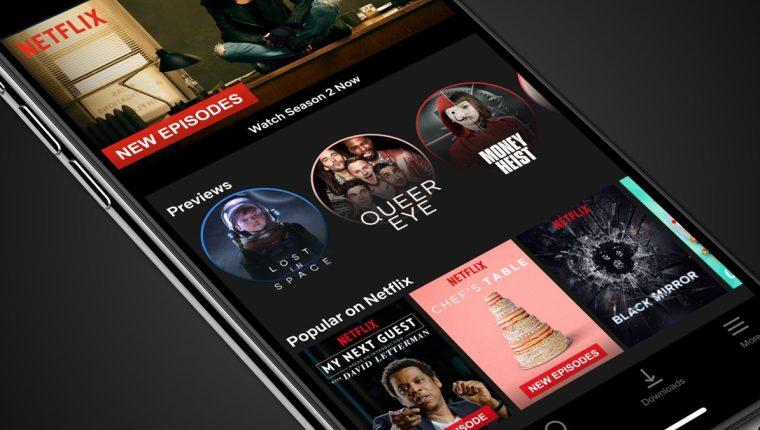 """La más reciente actualización de la aplicación de Netflix para iOS permite a los usuarios ver los tráilers como """"historias de Instagram"""". (Foto Prensa Libre: Netflix)."""