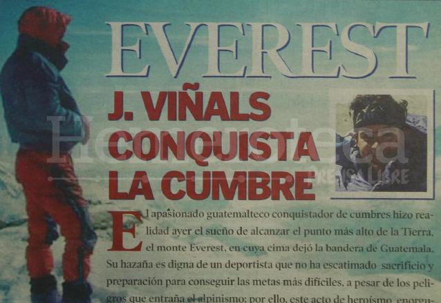 2001: Jaime Viñals conquista el Monte Everest