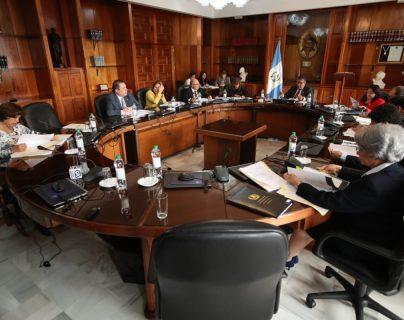 Los magistrados de la CSJ, eligieron a quien sustiruirá a Consuelo Porras como magistrada suplente en la Corte de Constitucionalidad. (Foto Prensa Libre: Paulo Raquec)