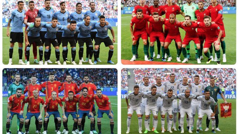 Uruguay contra Portugal y España frente a Rusia son los primeros enfrentamientos en la fase de octavos de final. (Foto Prensa Libre: AFP)