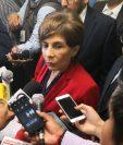 La diputada Nineth Montenegro acudió al Ministerio Público a la Fiscalía de Delitos Electorales. (Foto Prensa Libre: Carlos Álvarez)