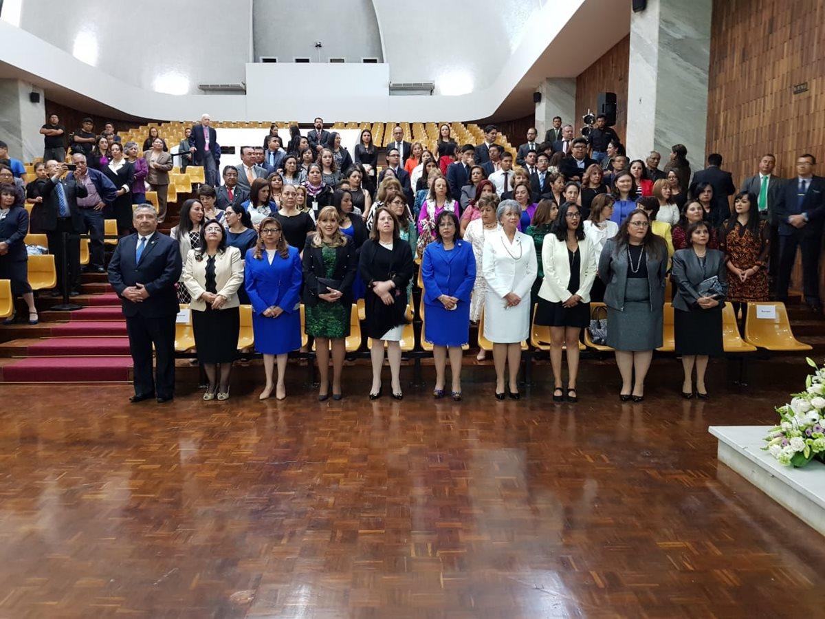 El XVII Encuentro Iberoamericano de Magistradas de los Más Altos Órganos de Justicia inició en la Sala de Vistas. (Foto Prensa Libre: CSJ)