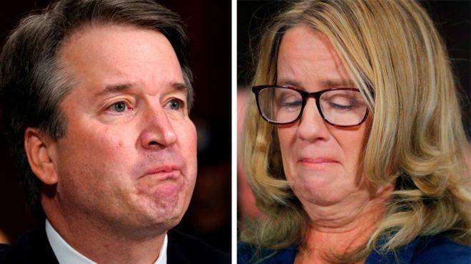 Christine Blasey Ford y Brett Kavanaugh declararon este jueves ante el Comité de Justicia del Senado sobre los supuestos abusos que la mujer asegura haber sufrido a manos del magistrado en 1982. GETTY IMAGES