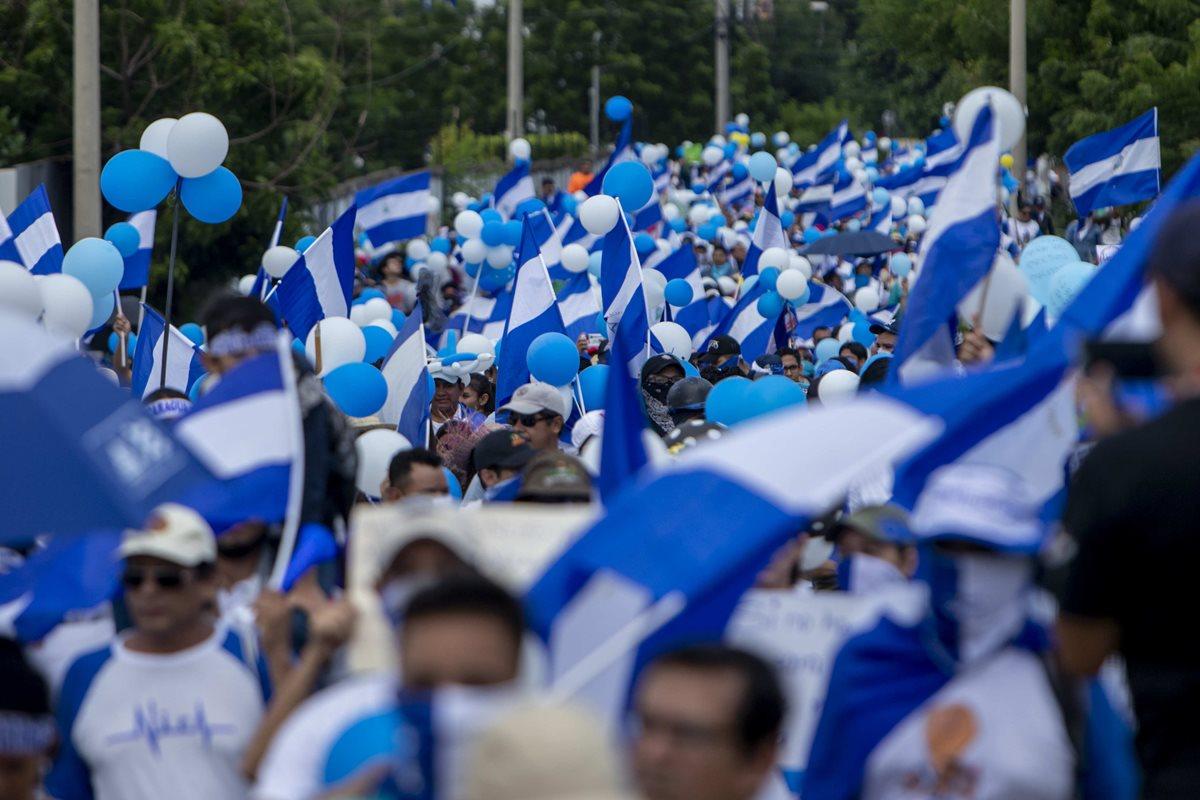 Marcha de los Globos en Nicaragua se torna en enfrentamiento verbal