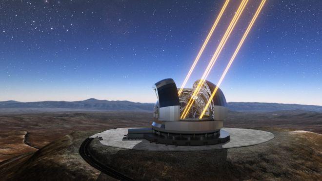 El Telescopio Extremadamente Grande o ELT, en Cerro Armazones, será el telescopio en tierra con el espejo más grande del mundo.ESO/L. CALÇADA