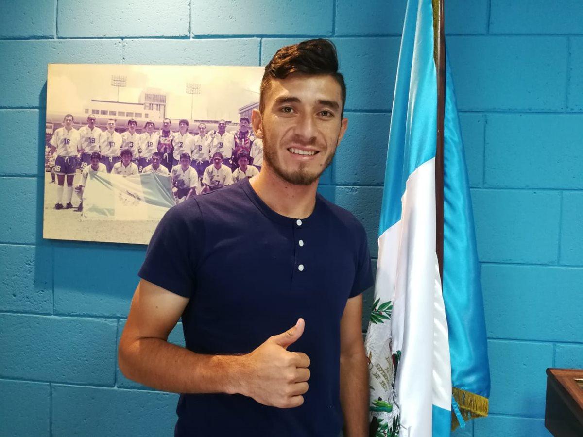 Wilson Pineda es uno de los jugadores consentidos del técnico guatemalteco Wálter Claverí. (Foto Prensa Libre: Francisco Sánchez)
