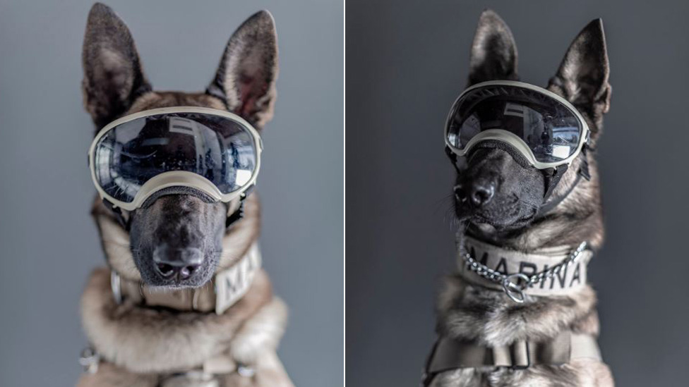 Ecko (izq.) y Evil con sus gafas protectoras. (FOTO PRENSA LIBRE: SANTIAGO ARAU)