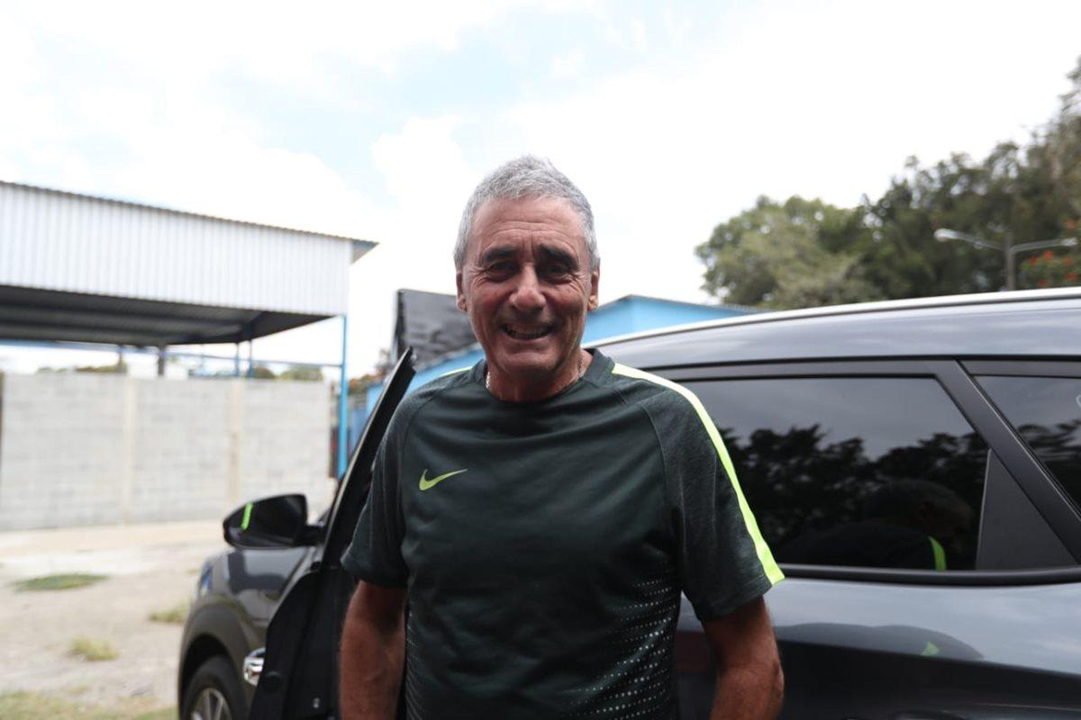 Horacio Cordero tiene confianza en que los rojos conseguirán sus objetivos en el Apertura 2018. (Foto Prensa Libre: Francisco Sánchez)