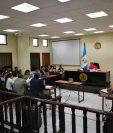 Reproducen audio del colaborador eficaz del caso corrupción en Xela en el Juzgado de Mayor Riesgo de Quetzaltenango. (Foto Prensa Libre: Mynor Toc)