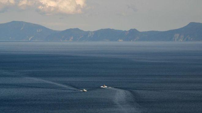"""La isla se encontraba al oeste de lo que Japón llama los """"Territorios del Norte"""", que se disputa con Rusia. GETTY IMAGES"""