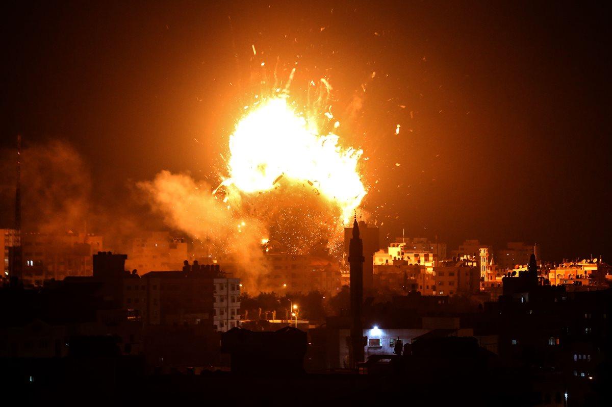 Bombardeos en la Franja de Gaza