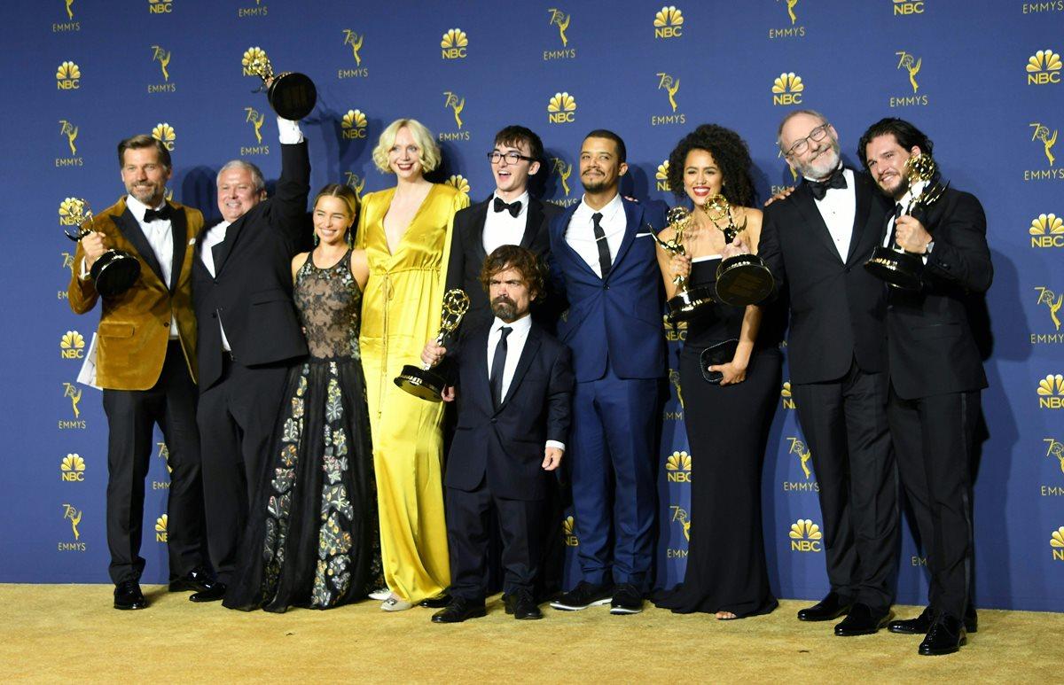 El elenco de Game of Thrones (Foto Prensa Libre: AFP).