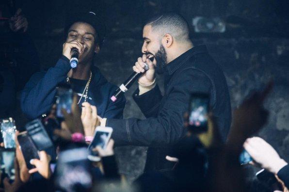 Drake junto a Smoke Dawg.