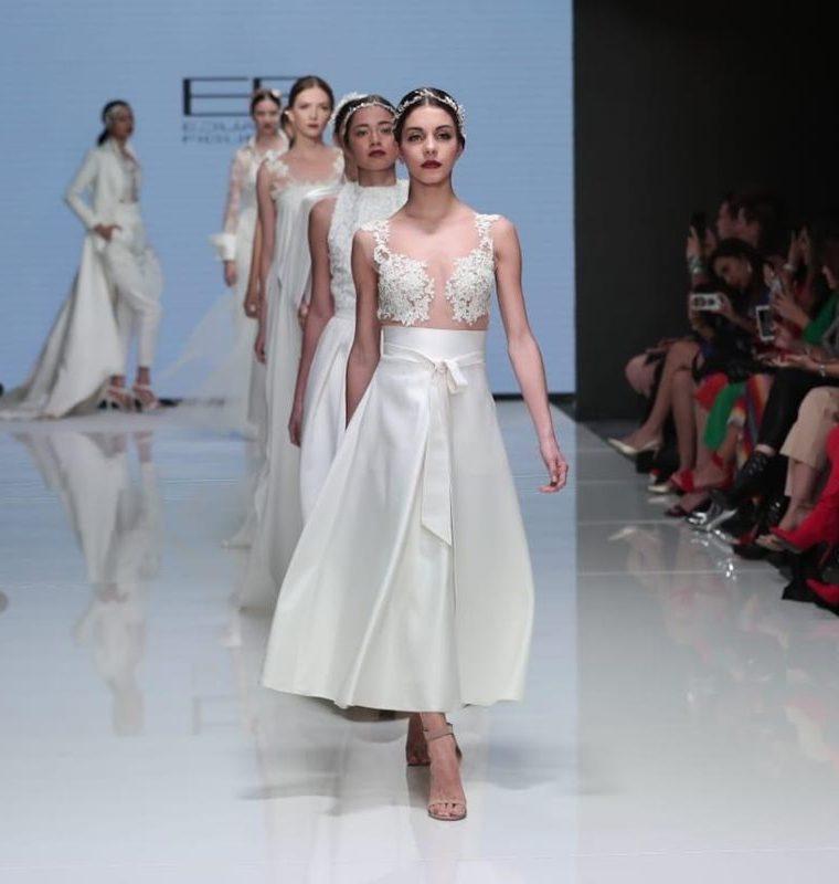 El diseñador guatemalteco Eduardo Figueroa fue parte de las pasarelas de cierre del Mercedes-Benz Bridal Guatemala, que se celebró este sábado. (Foto Prensa Libre: Juan Diego González).