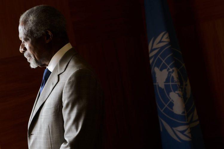 Kofi Annan, fue Secretario General de Naciones Unidas y ganador del premio Nobel de la Paz.