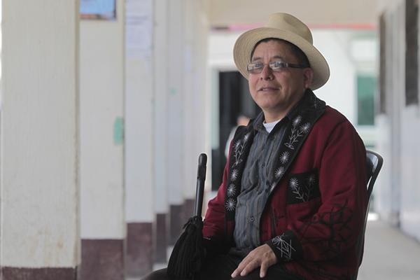 Miguel De León, líder de la alcaldía indígena de Nebaj, Quiché (Foto Prensa Libre: Álvaro Interiano).