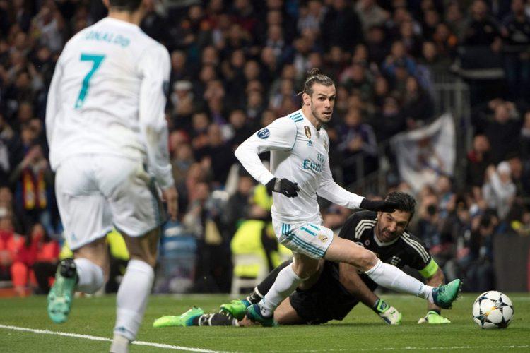 Buffon detiene una llegada de Gareth Bale.