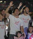 Gonzalo Martínez encabezó la celebración por el título de la Libertadores de River Plate. (Foto Prensa Libre: AFP)
