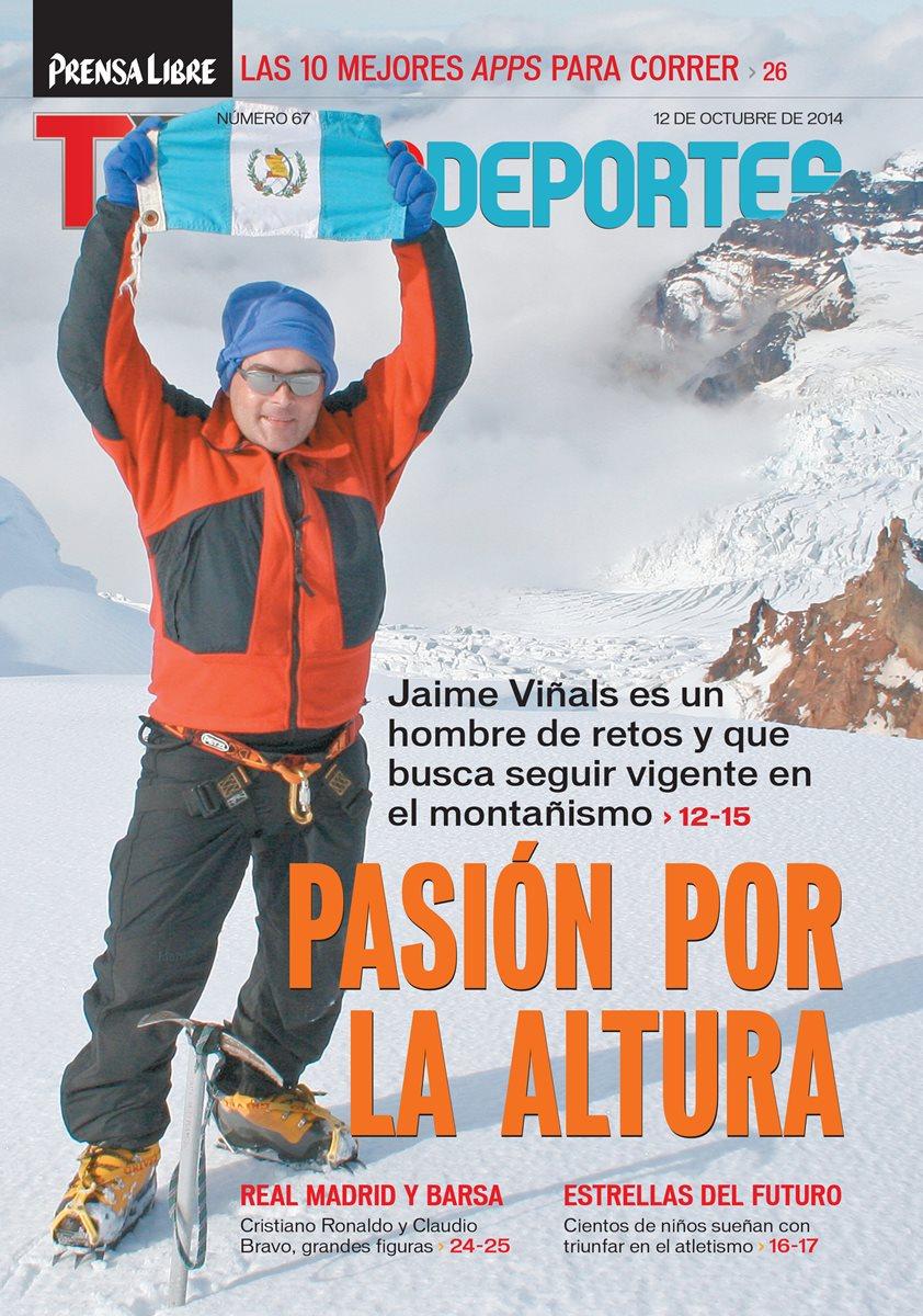 Jaime Viñals mantiene su pasión por escalar las montañas. Recientemente cumplió 15 años que escaló el Everest. (Foto Prensa Libre: Hemeroteca PL)